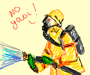 firefighter says 'no yaoi!'