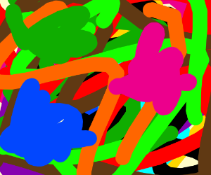 Colourful mess