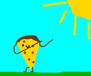Kawaii pizza dabs in the sun.