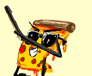 Dabbing pizza