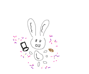 Rabbit does a Potato magic trick