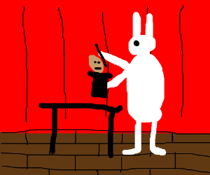 Bunny=Magician; Magician's Assistant is in hat