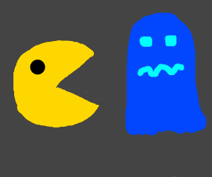 Pacman eating the ghosts