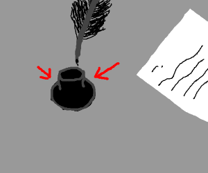 Inkwell (for a quill)