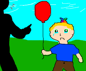 Man is abuses child because of red balloon