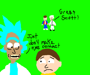 Back to the future meets rick and morty