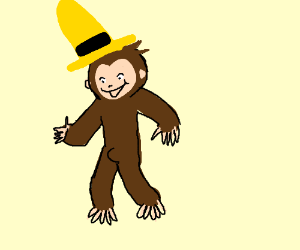 Curious George with an erection