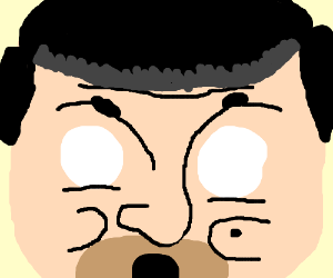 (Close up) Mr Bean dies of shock
