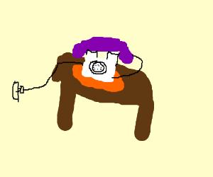 orange. purple white, phone house