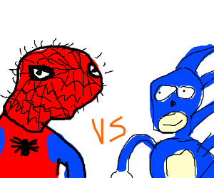 Spiderman vs Sonic the Hedgehog