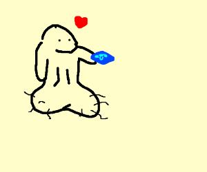 strange phallic creature loves viagra