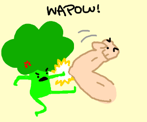 Broccoli fighting strong arm