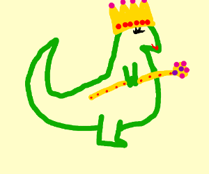 Dinosaur queen