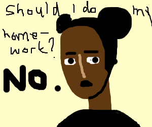 Procrastinating on homework