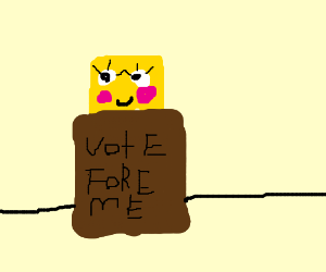 Cute Spongebob for President!