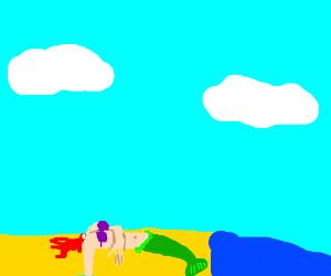 Mermaid's body with no head