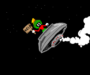 Guy wants help as he loses control of spaceship