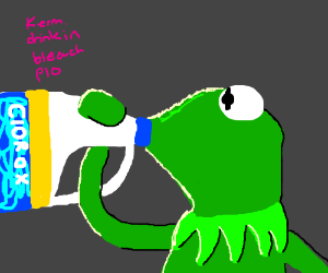 kermit drinking bleach pio - DrawceptionKermit Drinking Bleach