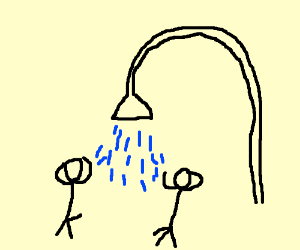 2 Guys Showering Together Drawing By Very Average Meme Drawception