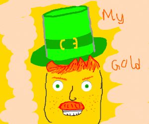 Leprechaun but he is a corn