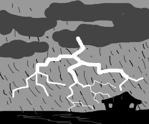 Dark thunderstorm