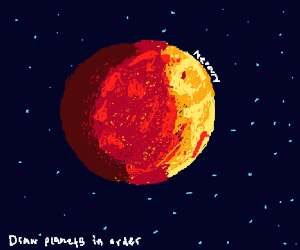 Draw The Planets In Order Mercury
