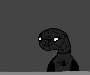 Black Spiderman on a ledge