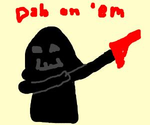 Omg darth vader has a gun