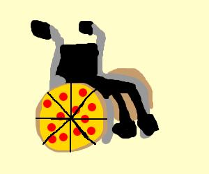 Pizza wheelchair