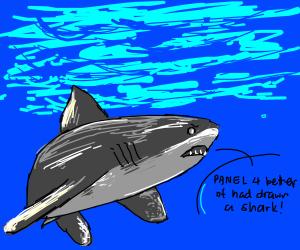 Panel 1: Hey, look what panel 4 just drew!