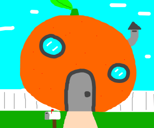 Literal orange house