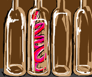 pink snake slides into bottle