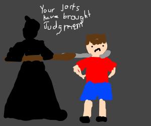 Death decapitates a dude wearing Jorts.