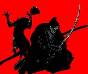 Samurai chops off head of an innocent (SFW)