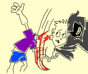 Getting decapitated by a scythe