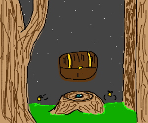 Mysterious stump longs for magical artifacts