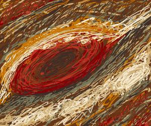 Close up of Jupiter