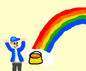 Mailman found the pot of gold at the rainbow!