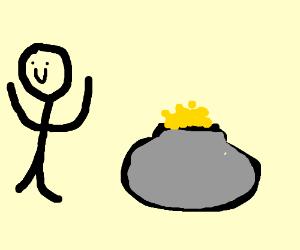 Dude found the irish pot of gold