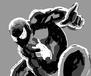 Spiderman in symbiote suit