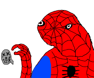 Spooderman wants a sign of Suicide