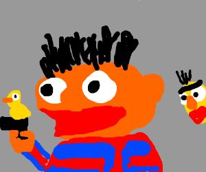 Ernie's got a gun