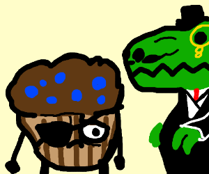 Fancy Dinosaur and trouble muffin man