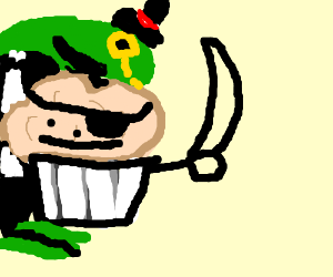 pirate muffin and dapper dino