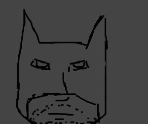 Scruffy b&w Batman sketch drawing