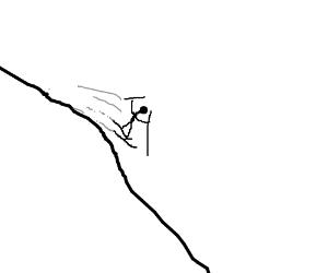 Skiing downhill is fun