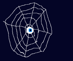 eyeball on spiderweb