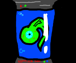 septiceye sam in container/vat