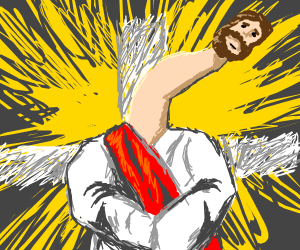 Long neck Jesus