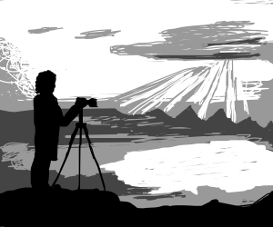 Photographing a landscape